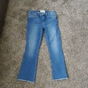 Free People frayed bottom jeans